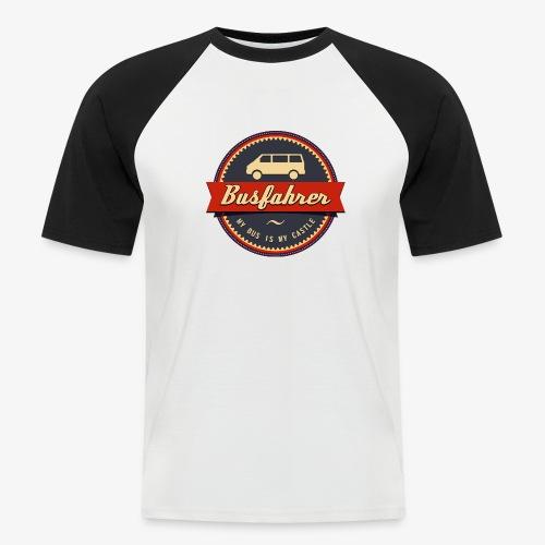 Busfahrer Retro - Männer Baseball-T-Shirt