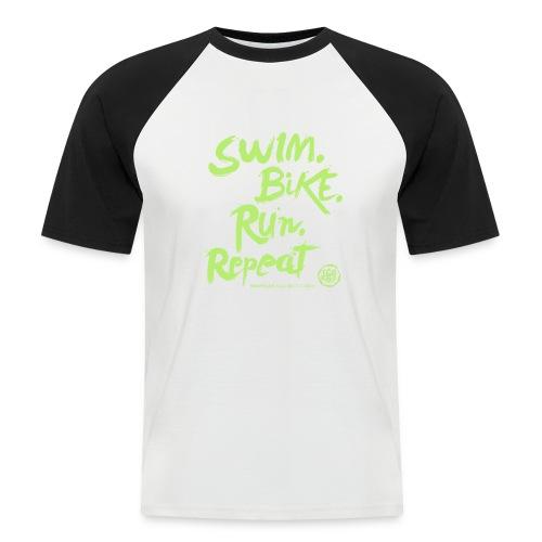 Swim. Bike. Run. Repeat - Maglia da baseball a manica corta da uomo