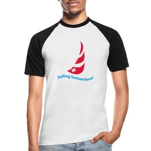 logo sailing switzerland - Männer Baseball-T-Shirt