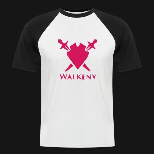 Das Walkeny Logo mit dem Schwert in PINK! - Männer Baseball-T-Shirt