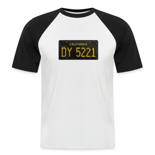 CALIFORNIA BLACK LICENCE PLATE - Men's Baseball T-Shirt
