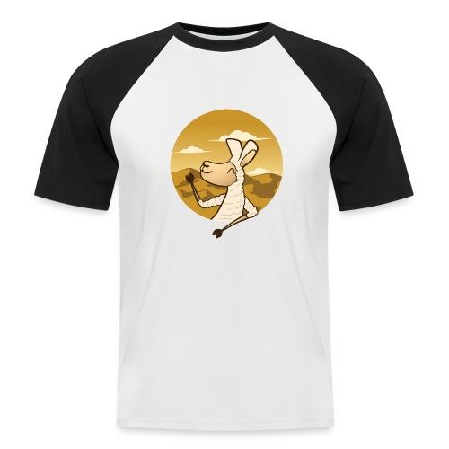 Waving Llama - Kortærmet herre-baseballshirt