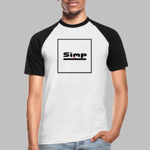 Standard Simp Logo Design - Mannen baseballshirt korte mouw