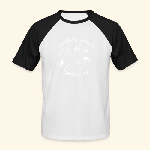 ES seropit logo valk - Miesten lyhythihainen baseballpaita