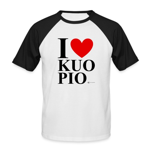 I LOVE KUOPIO ORIGINAL (musta) - Miesten lyhythihainen baseballpaita