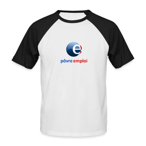 Povre emploi - T-shirt baseball manches courtes Homme