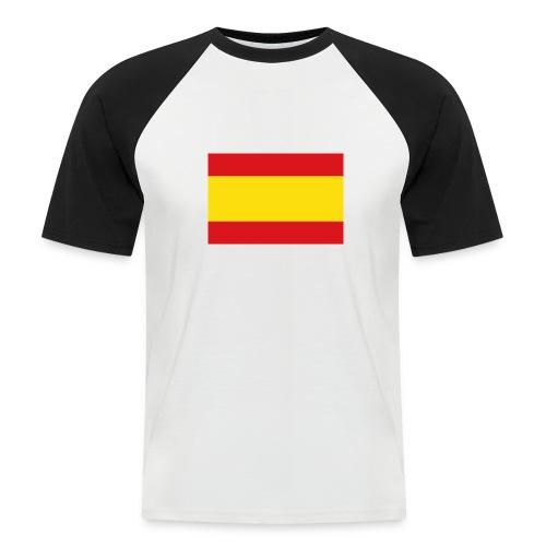 vlag van spanje - Mannen baseballshirt korte mouw