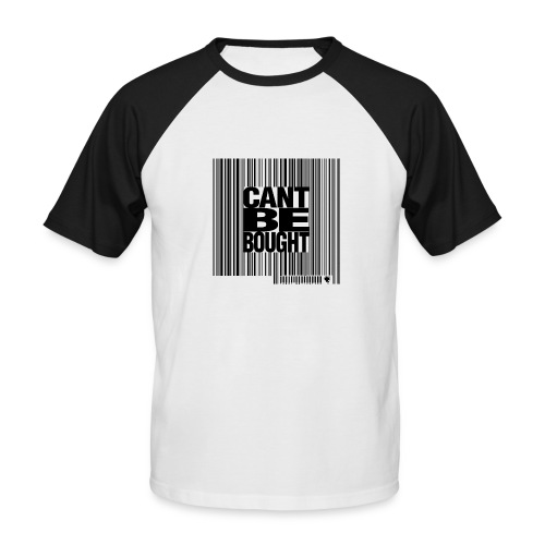 can t be baught Black - T-shirt baseball manches courtes Homme