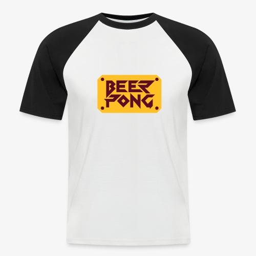 Beer Pong Schild - Männer Baseball-T-Shirt