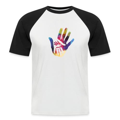logo_storien - Kortermet baseball skjorte for menn