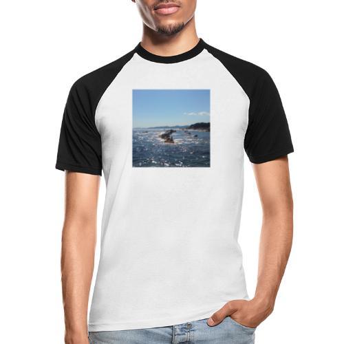 Mer avec roches - T-shirt baseball manches courtes Homme