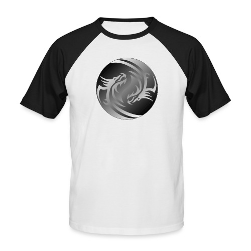 Yin Yang Dragon - Men's Baseball T-Shirt