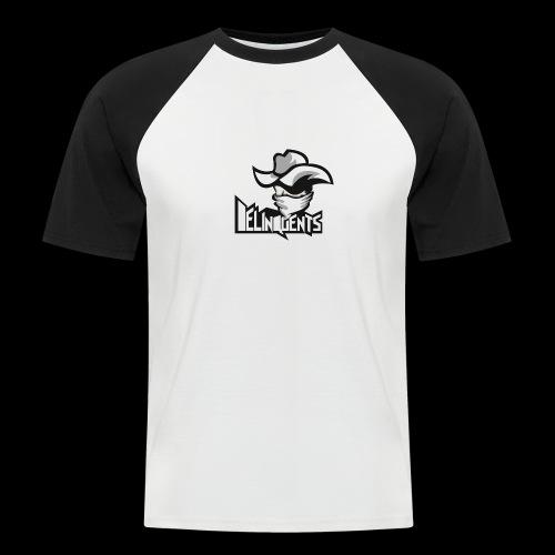 Delinquents TriColor - Kortærmet herre-baseballshirt