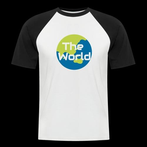 The World Earth - Kortærmet herre-baseballshirt