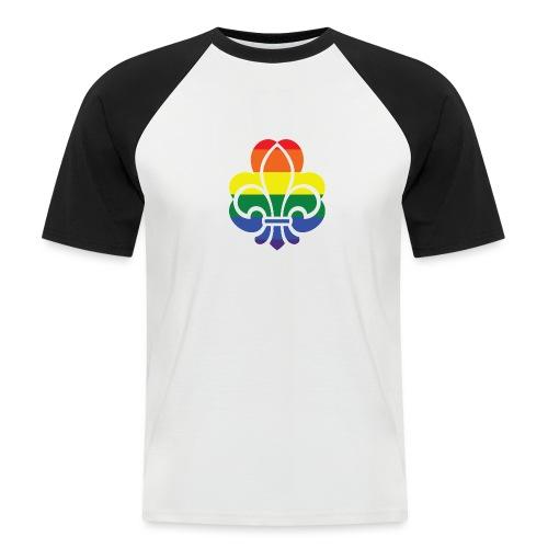 Regnbuespejder jakker og t-shirts mv - Kortærmet herre-baseballshirt