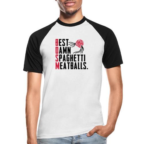 Best Damn Spaghetti - Miesten lyhythihainen baseballpaita