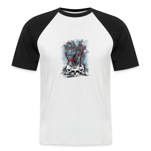 rock n roll skulls - Mannen baseballshirt korte mouw
