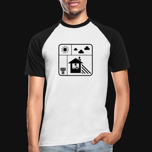 Happy White Balance - Männer Baseball-T-Shirt