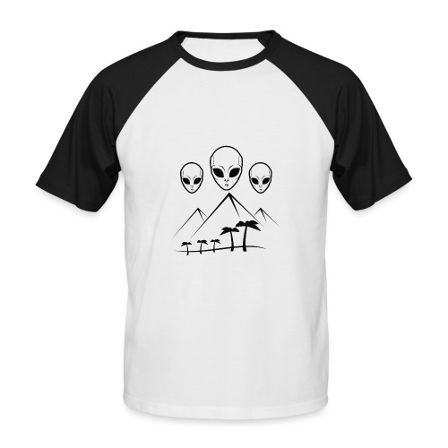 Pyramides & Extraterrestres - T-shirt baseball manches courtes Homme