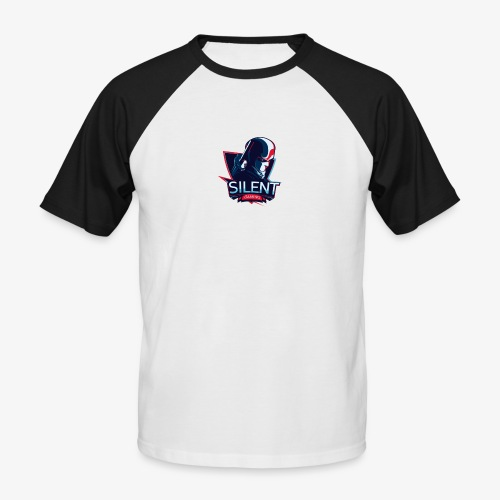 SILENTGAMING Logo color - Männer Baseball-T-Shirt