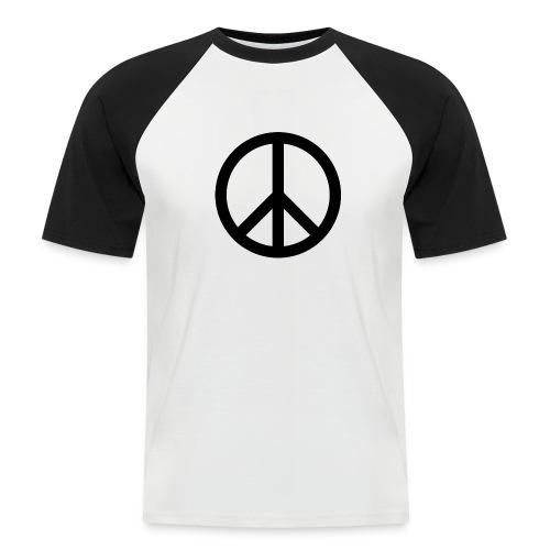 Peace Teken - Mannen baseballshirt korte mouw
