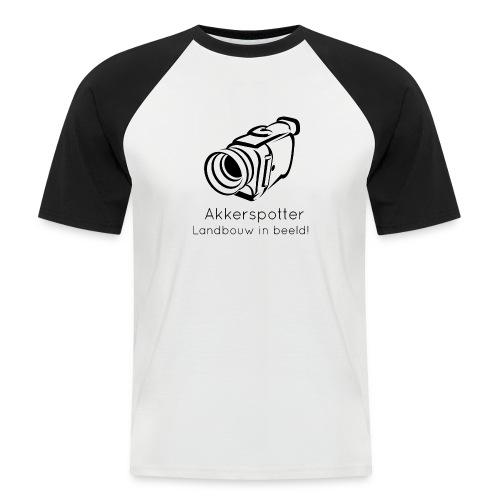 Logo akkerspotter - Mannen baseballshirt korte mouw