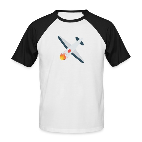 Falling Plane - Men's Baseball T-Shirt