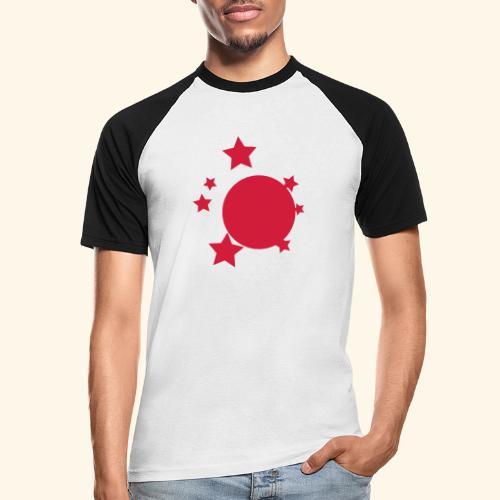 planeta i gwiazdy - Koszulka bejsbolowa męska