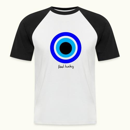 luck eye - Mannen baseballshirt korte mouw