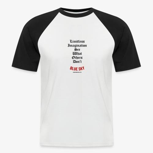 Limitless Imagination Zwart - Mannen baseballshirt korte mouw
