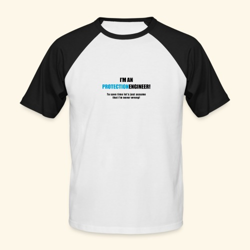IamAnProtectionEngineerFree png - Männer Baseball-T-Shirt