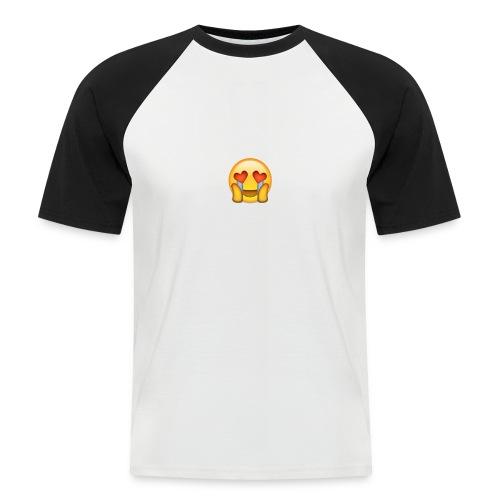 Emoij Hoesje - Mannen baseballshirt korte mouw