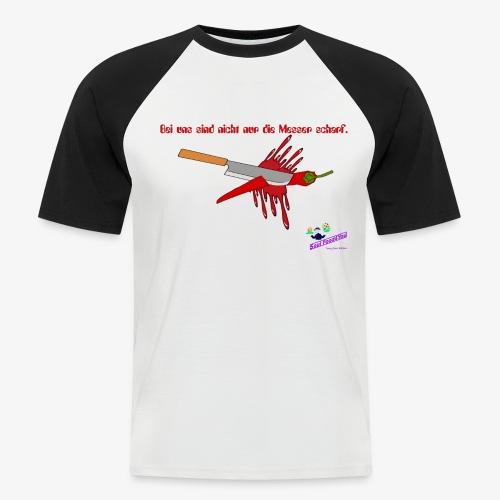 Messer Shirt - Männer Baseball-T-Shirt