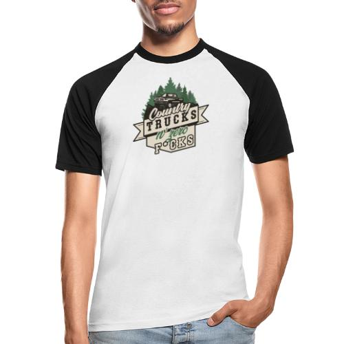 Country, Trucks & Zero F*cks - Männer Baseball-T-Shirt