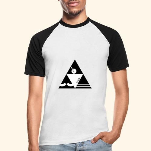 TRI WHITE by 3BSR - T-shirt baseball manches courtes Homme