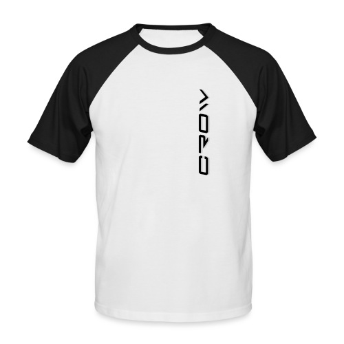 CROW TEXT VERTICAL BLACK T-SHIRT - Men's Baseball T-Shirt