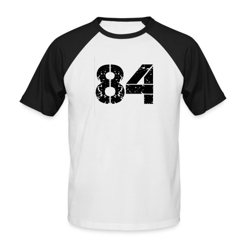 84 vo t gif - Mannen baseballshirt korte mouw
