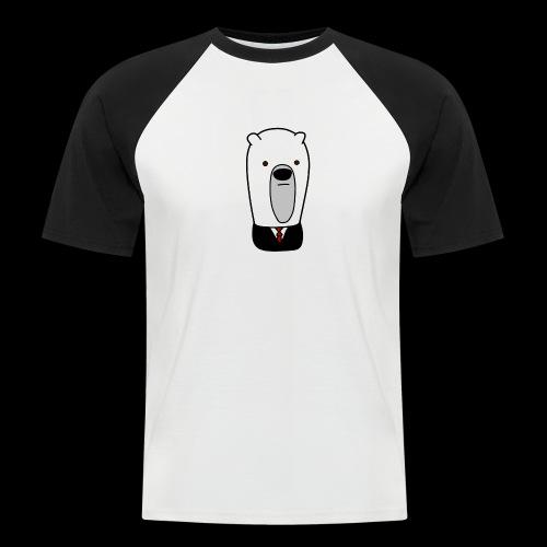 officel_polarbear_shop_logo - Kortærmet herre-baseballshirt