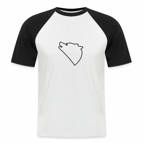 Wolf baul logo - Mannen baseballshirt korte mouw