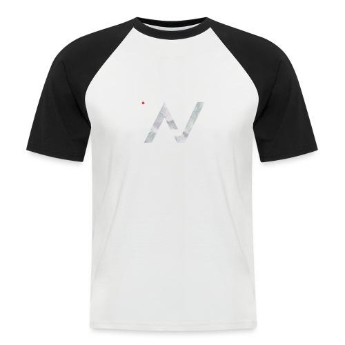 logoalpha blanc - T-shirt baseball manches courtes Homme