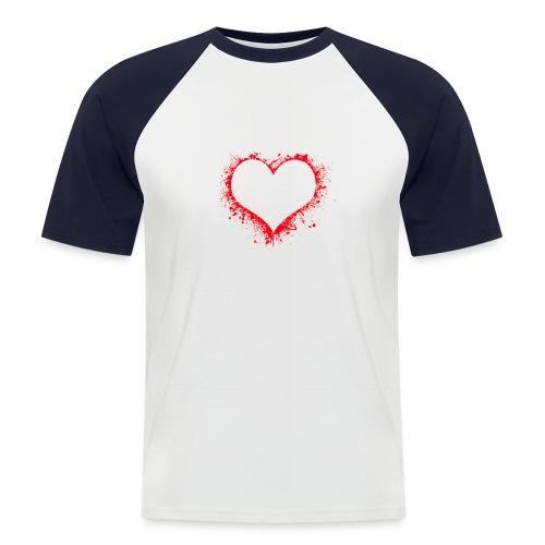 heart 2402086 - Maglia da baseball a manica corta da uomo