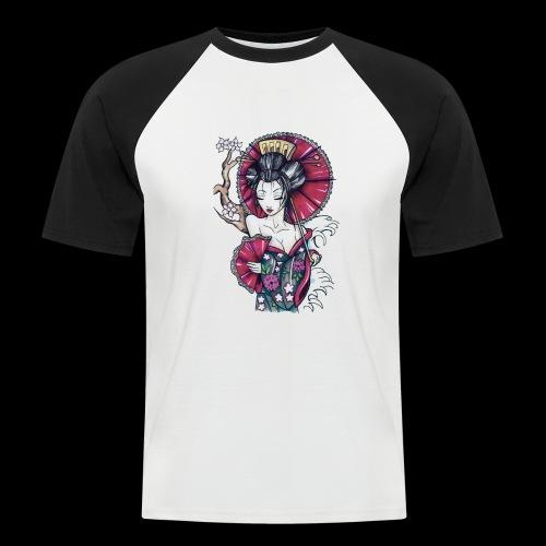 Geisha2 - Maglia da baseball a manica corta da uomo
