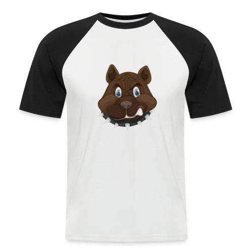 PERRO ENFADADO - Camiseta béisbol manga corta hombre