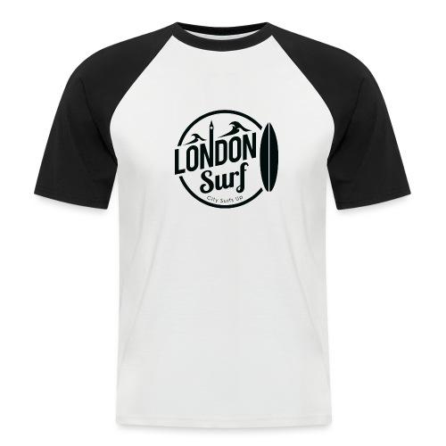 London Surf - Black - Men's Baseball T-Shirt