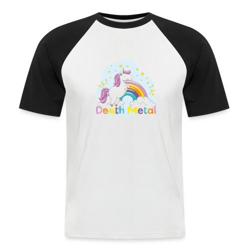unicorn death metal - Mannen baseballshirt korte mouw