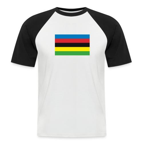 Cycling_World_Champion_Rainbow_Stripes-png - Mannen baseballshirt korte mouw