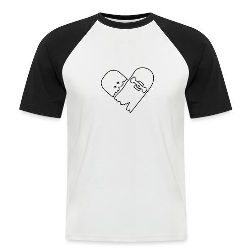 Broken Skateboard - Men's Baseball T-Shirt
