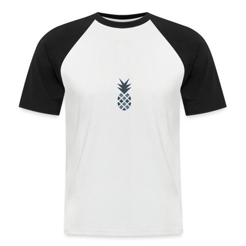 Ananas blau - Männer Baseball-T-Shirt