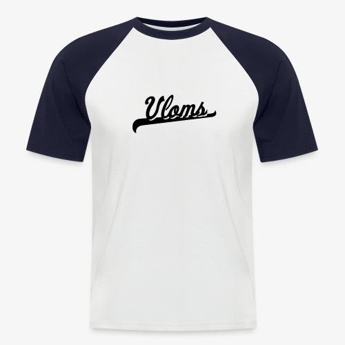 Zwart logo Vloms - Mannen baseballshirt korte mouw