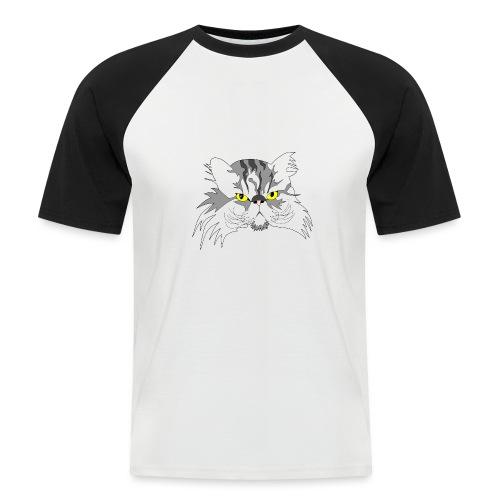 Katze - Chuck Norris - Theophil-Nerd - Männer Baseball-T-Shirt